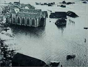 Church of Brouwershaven flooded