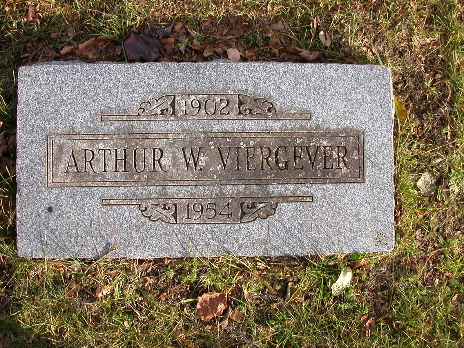 Arthur William Viergever 1902-1954