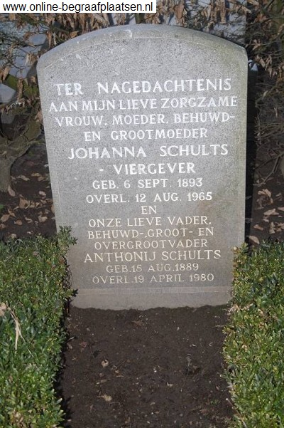 Johanna Viergever 1893-1965 and Anthonij Schults 1889-1980